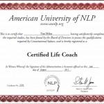 Tim Milne Certified Life Coach Certificate