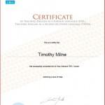 Tim Milne TEFL / TESOL Certificate